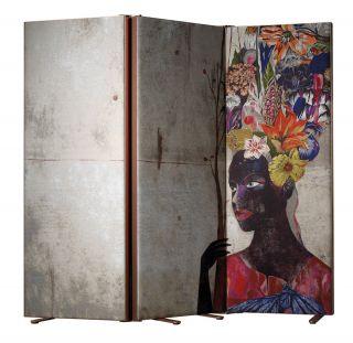 Paravent by Olaf Hajek - Black Antoinette - Alugold